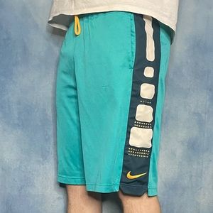Teal and Orange Nike Elite Shorts